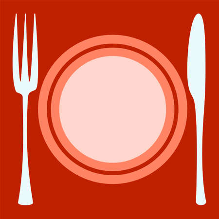 plate: Empty plate   with spoon and fork. Plate concept.