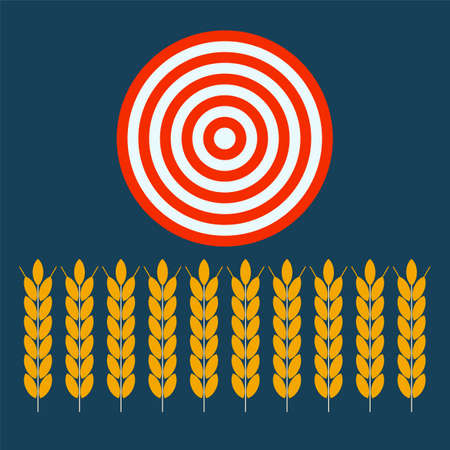 agribusiness: wheat ear blowing under target, agribusiness, agrobusiness