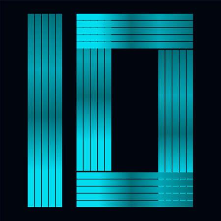 ten: Number ten in modern line crystal style