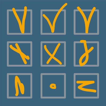 tick mark: tick marca o signo vector colecci�n de iconos conjunto adecuado.