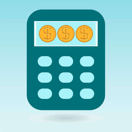 dollar coins: Calculator, dollar coins
