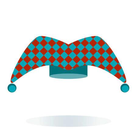 Hofnarr Hut In Weiß Und Blau Design Lizenzfrei Nutzbare ...