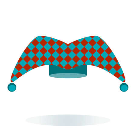jester hat: Jester hat in blue and red design Illustration