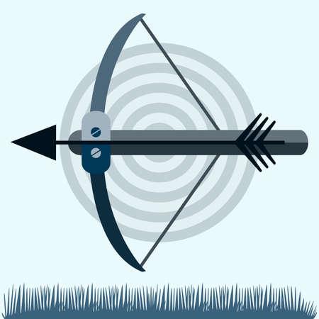 armbrust: Silhouetten von Ger�ten f�r die Aufnahme von Bogen und Armbrust, Armbrust