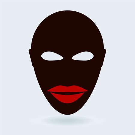 uomini di colore: Black Men Viso Vettoriali