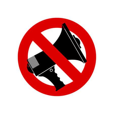 converse: No Speech Sprechen Loudness, Megaphon ban