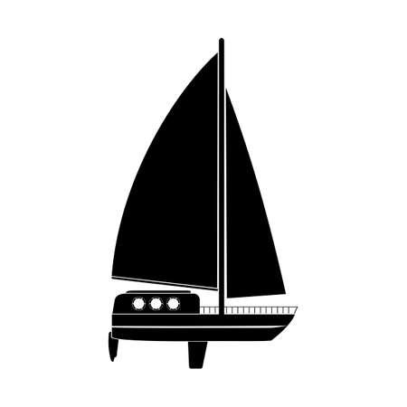 はしけ: 帆船のイラスト