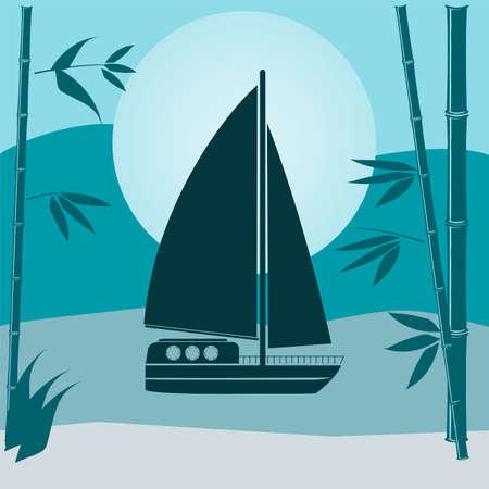sailing vessel: ilustraci�n de un velero