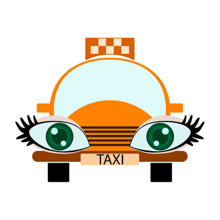 Funny green-eyed  taxi Vector