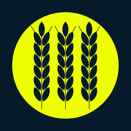agribusiness: wheat ears, agribusiness, agrobusiness. Illustration