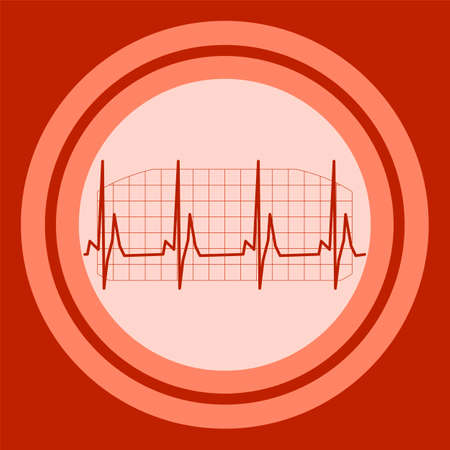 batida de cora��o: Electrowave heart beat, cardiogram. Pulse vector illustration, ekg Ilustra��o