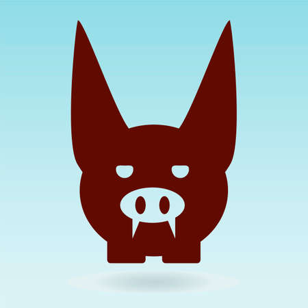 gremlin: pig gremlin, pink pig head Illustration