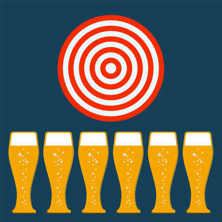 thirsty: beer mug, target concept Illustration