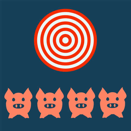 snoot: Pig head or face icon. Agriculture and farming, targt concept.
