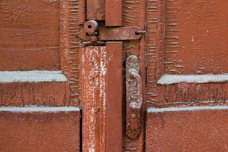 old barn: Old barn wooden gates closeup