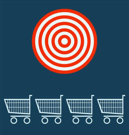 shopping chart: shopping chart. target concept.