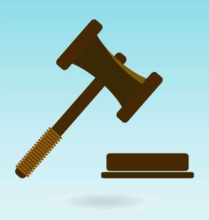 judgment: Gavel. Icon law. Symbol of justice and judgment.