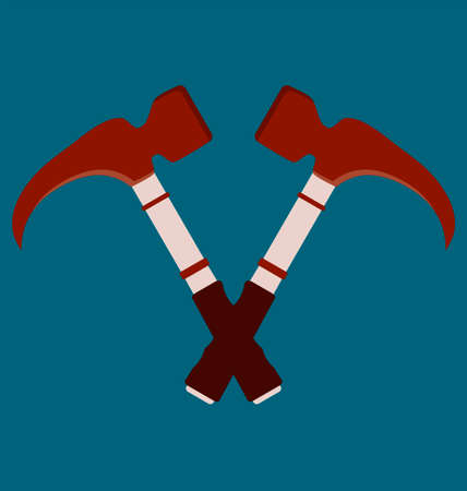 for advertising: Crossed hammers. Suitable for advertising.