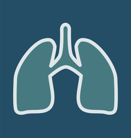 inhale: Human lung symbol. Medical concept.