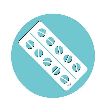 pilule: Ilustración de píldoras, concepto médico. Vectores