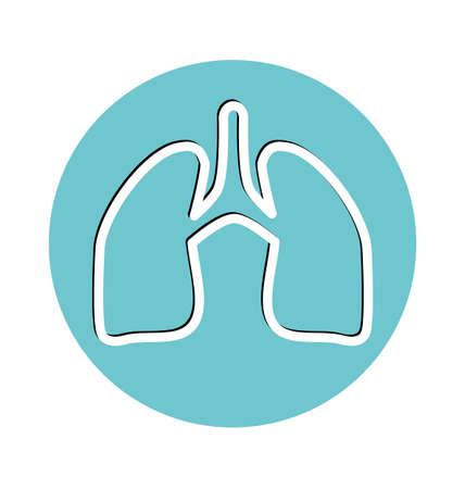 respiration: Human lung symbol. Medical concept.