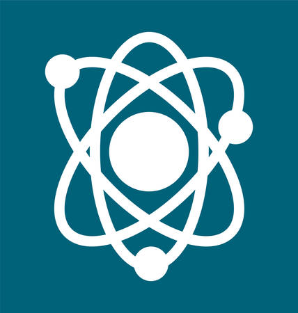 abstract physics science model icon Illustration