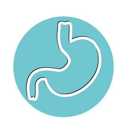 colonoscopy: Human stomach symbol