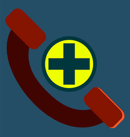 healthcare and medical: Help line, phone, telephone icon vector image, for healthcare. medical concept. Illustration