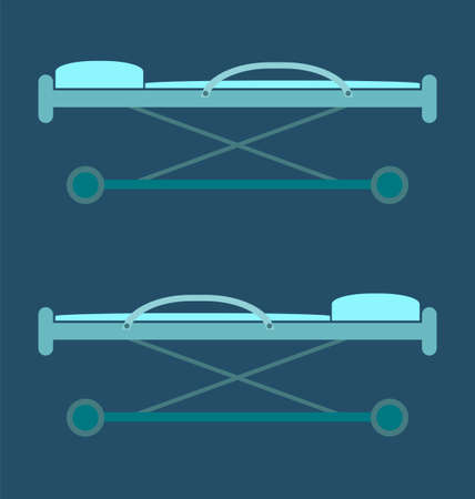 healthcare and medical: stretcher, bed, rescue icon image, for healthcare. medical concept.