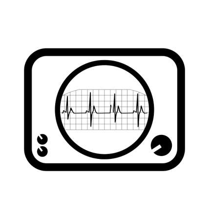 cardiogram: Display with Cardiogram Icon medical survey test