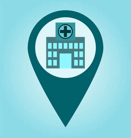hospital building: Hospital, building, clinic icon vector image, for healthcare and medical.