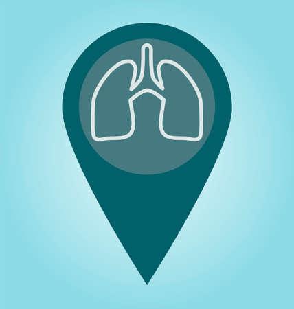 poumon humain: Symbole de poumon humain. Concept m�dical.