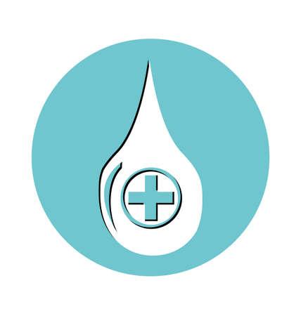 simbolo medicina: caer con una cruz. s�mbolo m�dico, el concepto de la medicina Vectores