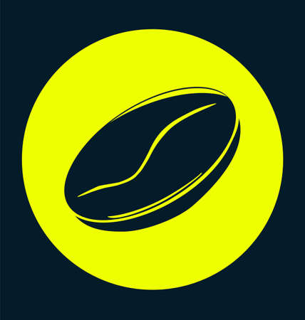 expresso: coffee bean natural. Plant yellow concept