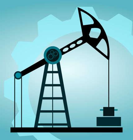 depletion: silhouette oil pump Illustration
