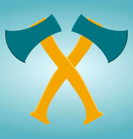 hack: The crossed axes icon. Axe and hack symbol. Illustration
