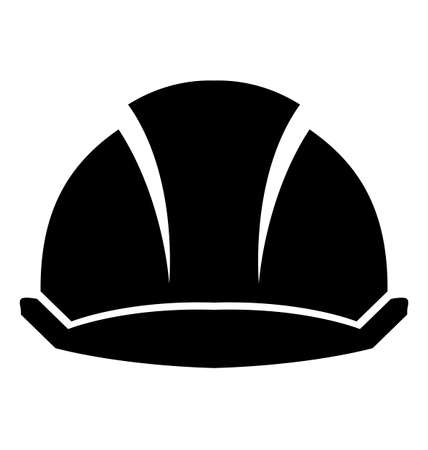Hard Hat Construction on a white background. Stock Illustratie