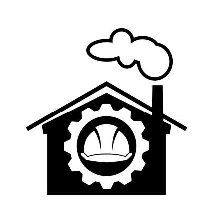 industrial worker: Under construction digital design, Industrial worker icon