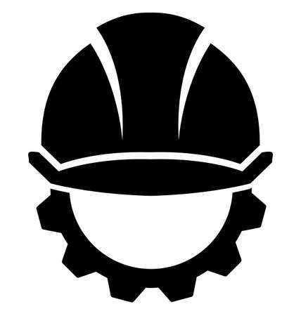Hard Hat Construction on a white background. Illustration