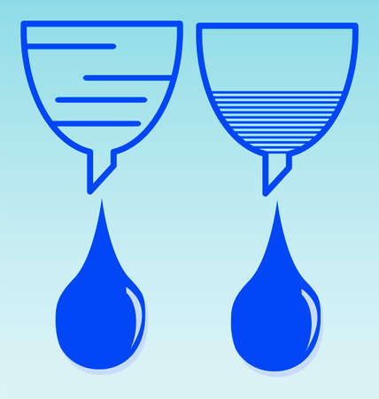 funnel: funnel icon with drops of water