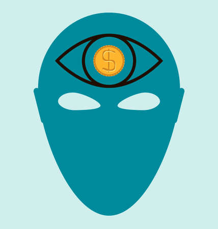 third eye: Third Eye, dollar coin Illustration