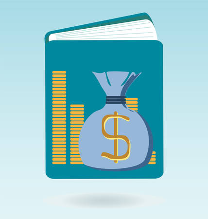 medium: Tax book icon. Accounting book with dollar sign.