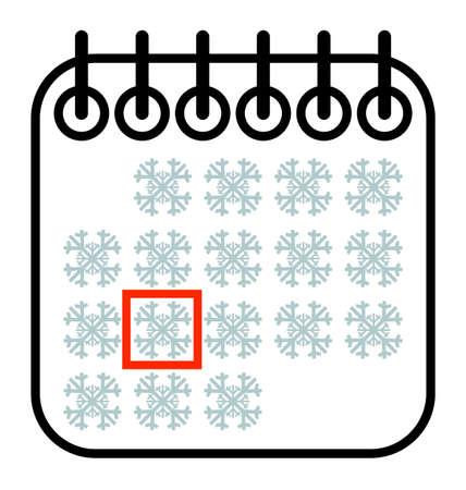 date: Christmas winter Calendar Date