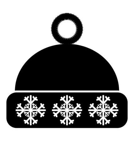 winter hat: Winter hat icon on white background Illustration