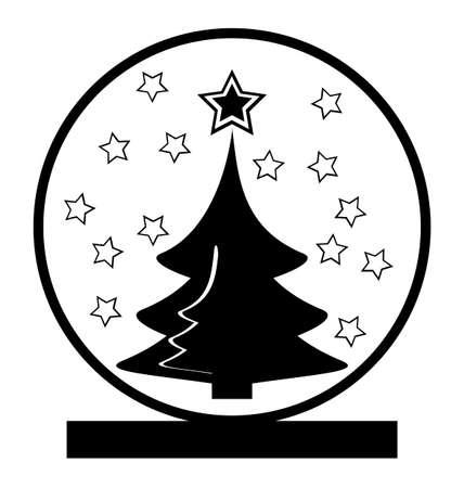 augur: Christmas snow globe with christmas tree within