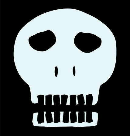 homo sapiens: Black and white human skull