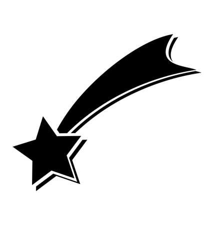 별: shooting star on white background, Christmas Star