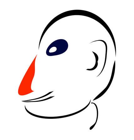 nariz roja: Cara. Sencilla Negro, Nariz roja