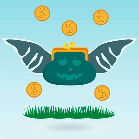 dollar coins: flying money, dollar coins, angel investor
