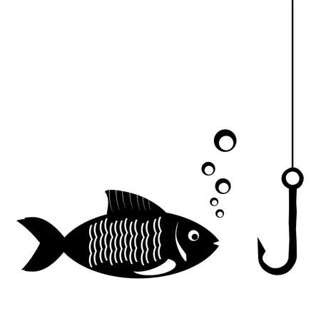 vis: fish and fishing hook